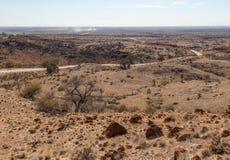 Ökenlandskap. Flindersområden. Södra Australien royaltyfri fotografi