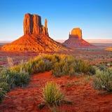 Ökenlandskap i Arizona, monumentdal Fotografering för Bildbyråer