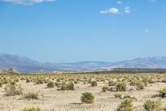 Ökenlandskap i Deathet Valley Arkivfoto