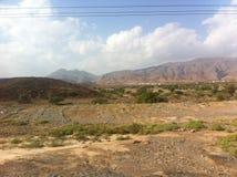 Ökenlandskap Marocko Royaltyfri Fotografi