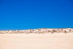 Ökenlandskap och exotisk sikt av portugisen Arkivfoton
