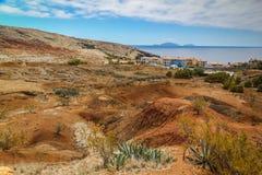 Ökenlandskap på Maderia Arkivbilder