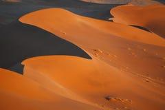 Ökenlandskap, Sossusvlei, Namibia arkivfoto