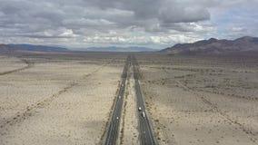 Ökenmitt Kalifornien till Arizona stock video