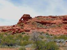 Ökenpanoramautsikter från att fotvandra skuggar runt om St George Utah runt om Beck Hill, Chuckwalla, sköldpaddaväggen, paradiska Arkivfoton