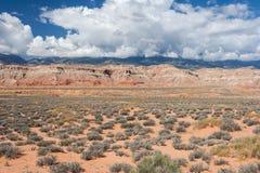 Ökensikt av centrala Utah Royaltyfria Foton