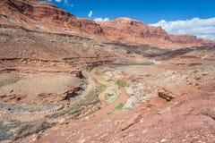 Ökensikt av centrala Utah Arkivbilder