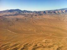 Ökensikt från flygplanet Arkivbild