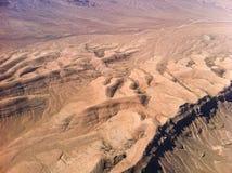 Ökensikt från flygplanet Royaltyfria Bilder