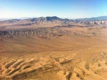 Ökensikt från flygplanet Royaltyfri Bild