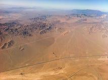 Ökensikt från flygplanet Royaltyfria Foton