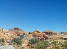 Ökensikt i Nevada Fotografering för Bildbyråer