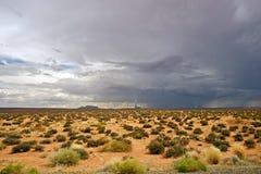 Ökenstorm Arizona Arkivbild