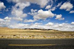 ökenväg Royaltyfria Bilder