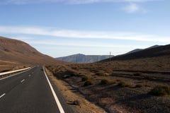ökenväg arkivbild