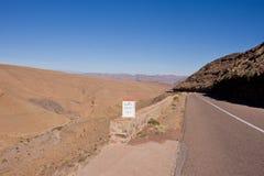 ökenväg till Fotografering för Bildbyråer