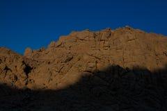 Öknar och landskap för sanddyn på solnedgången royaltyfri foto