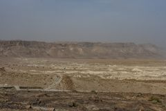 Öknen av Judea och dess kullar israel royaltyfria foton