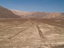öknen lines nazcaperuan Royaltyfri Foto