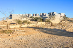 Öknen returnerar i Israel Negev Arkivbild