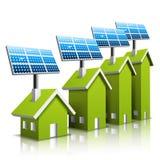 Öko-Häuser Stockfoto