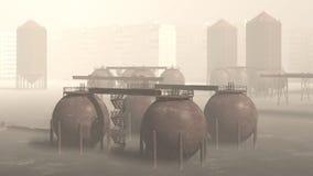 Öko-Katastrophe Stockbild