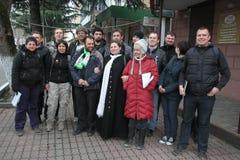 Ökologen von der ökologischen Uhr über dem Nord-Kaukasus Lizenzfreies Stockfoto
