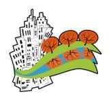 Ökologie der Städte vektor abbildung