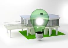 Ökologie des grünen Hauses Stockfotografie