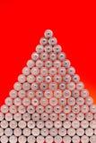 Ökologie, die Energie, verwendeten oder neuen Batterie-PU des Konzeptes, der Naturaufbereitet Lizenzfreie Stockbilder