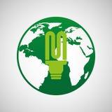 Ökologie eco Naturschutzbirne Lizenzfreies Stockbild