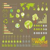 Ökologie, infographics, Klimaelement stockbild