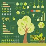 Ökologie, infographics, Klimaelement stockbilder