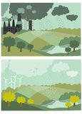 Ökologie-Konzept-Vektor-Illustration für Stockfotos