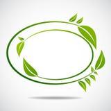 Ökologie, organisch mit Blättern Lizenzfreie Stockfotos