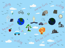 Ökologie und Verschmutzung auf dem Planeten Lizenzfreie Stockbilder