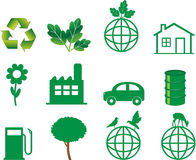 Ökologieabbildungvektor Lizenzfreies Stockfoto