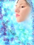Ökologieauslegung des frischen Gesichtes des Mädchens Lizenzfreie Stockbilder