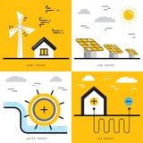 Ökologieenergiekonzept 17 Stockfoto