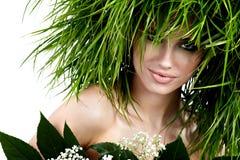 Ökologiefrau, grünes Konzept Lizenzfreies Stockbild