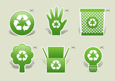 Ökologiegrün Lizenzfreies Stockfoto