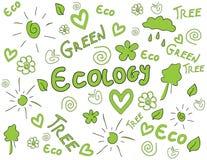 Ökologiehintergrund lizenzfreie abbildung