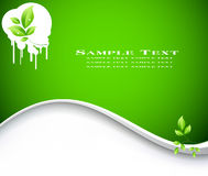 Ökologiehintergrundvektor Lizenzfreie Stockfotos