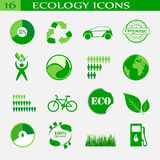 Ökologieikonen, Emblem Lizenzfreies Stockbild