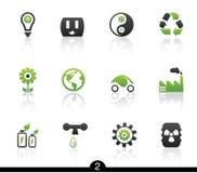 Ökologieikonenserie Stockbilder