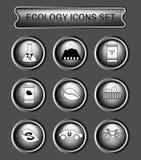 Ökologielogo-Ikonensatz lizenzfreie abbildung