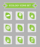 Ökologielogo-Ikonensatz Lizenzfreies Stockfoto