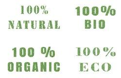Ökologienaturdesign auf weißem Hintergrund Stockbilder