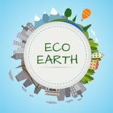 Ökologieplanet stock abbildung
