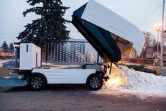 Ökologieproblem in der Stadt im Winter Stockfotografie